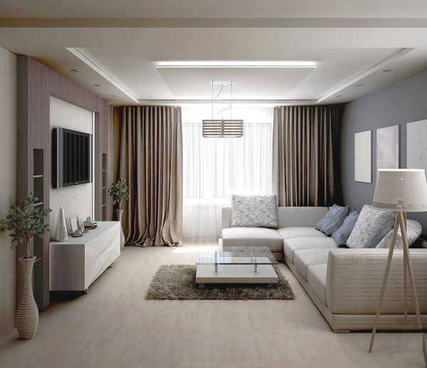 Какой дизайн гостиной 20 кв. м. можно использовать: фото-примеры лучших работ
